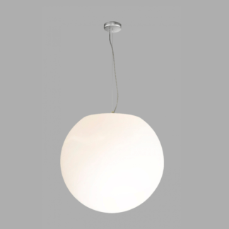 Biała lampa wisząca Cumulus - kula, IP65