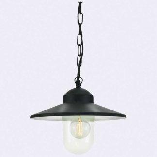 Lampa stropowa Karlstad - czarna, E27, IP55