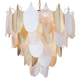 Lampa wisząca Palermo - dekoracyjne listki