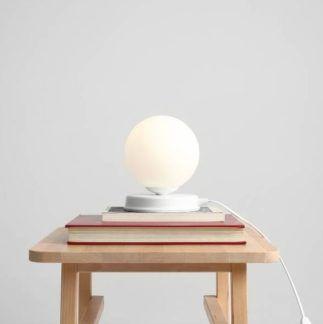 Lampa stołowa Ball - mała, biała