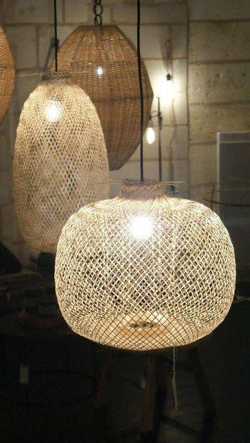 lampy z bambusa boho