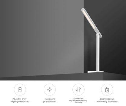 minimalistyczna lampa biurkowa