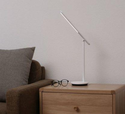 nowoczesna biała lampa nocna led