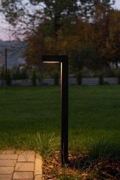 nowoczesna lampa stojąca led ogrodowa