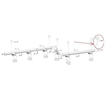 Profile Power Supply Kit - biały zasilacz wiszący do systemu szynowego