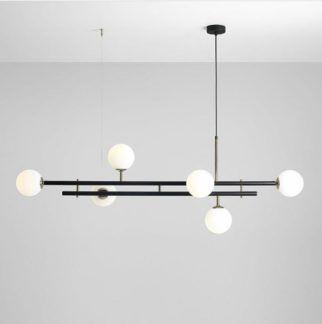 Lampa wisząca Harmony 6 - pozioma, czarna