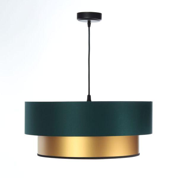 zielona lampa wisząca złoty środek