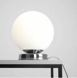 Lampa stołowa Ball - szklana, srebrna
