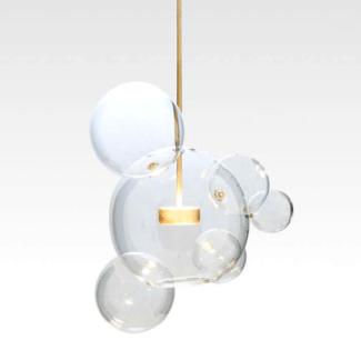 Elegancka lampa wisząca LED Bubbles z 5 kloszami bańkami