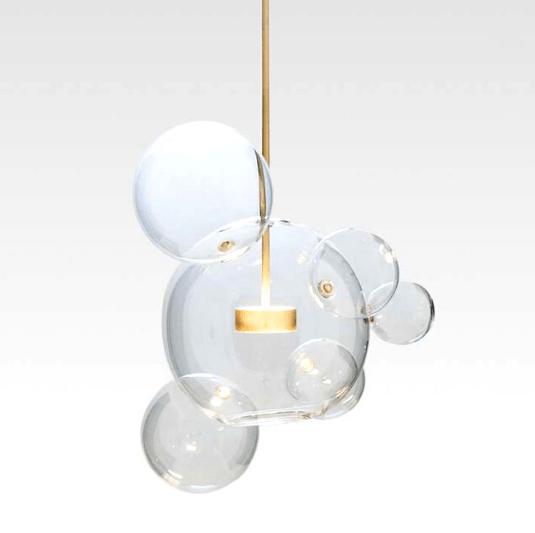szklana złota lampa bańka do salonu