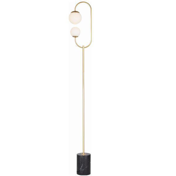 Lampa podłogowa Toro - szklane klosze, LED, marmur