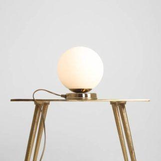 Lampa stołowa Ball - złota, szklana kula