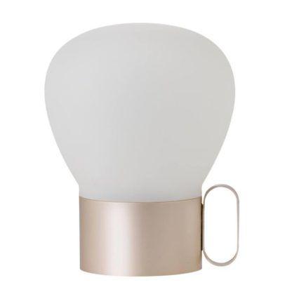 złota lampa stołowa na usb