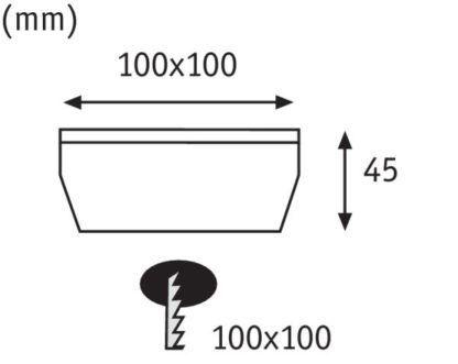 Oprawa gruntowa Solar Cube - IP67, LED
