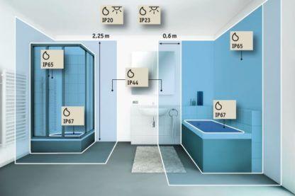 Lustro łazienkowe HomeSpa Mirra - LED, IP44, poziome, podgrzewane