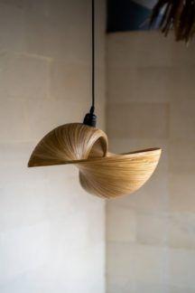Lampa wisząca Bamboo Elle - bambusowy klosz, M