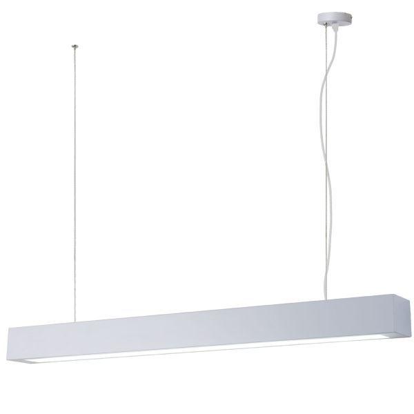 biała lampa wisząca LED do łazienki