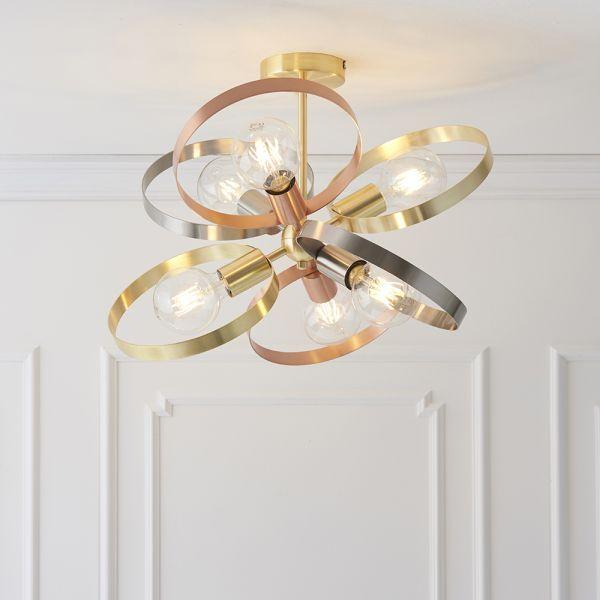 metalowe obręcze nowoczesne lampy