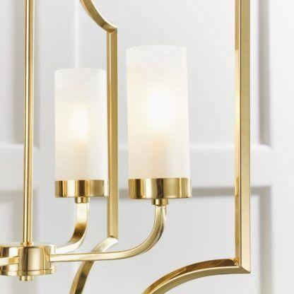 elegancka złota lampa wisząca