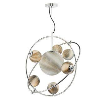 Oryginalna lampa wisząca Mikara - szklane klosze