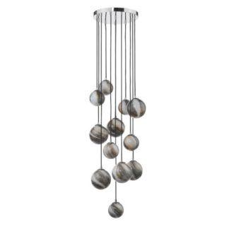 Lampa wisząca Mikara - 2,5m, szkło z efektem marmuru