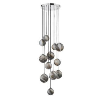 Lampa wisząca Mikara - 1,5m, efekt marmuru