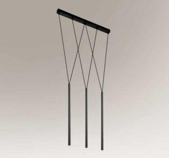 Czarna lampa wisząca Miaki - nowoczesna