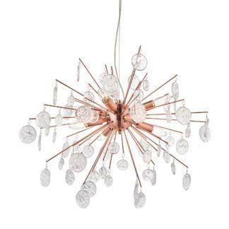Lampa wisząca Calla - miedź, szkło, nowoczesna