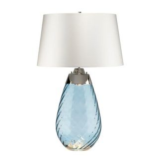 Lampa stołowa Lena - niebieska podstawa, duża, Dual-Lit