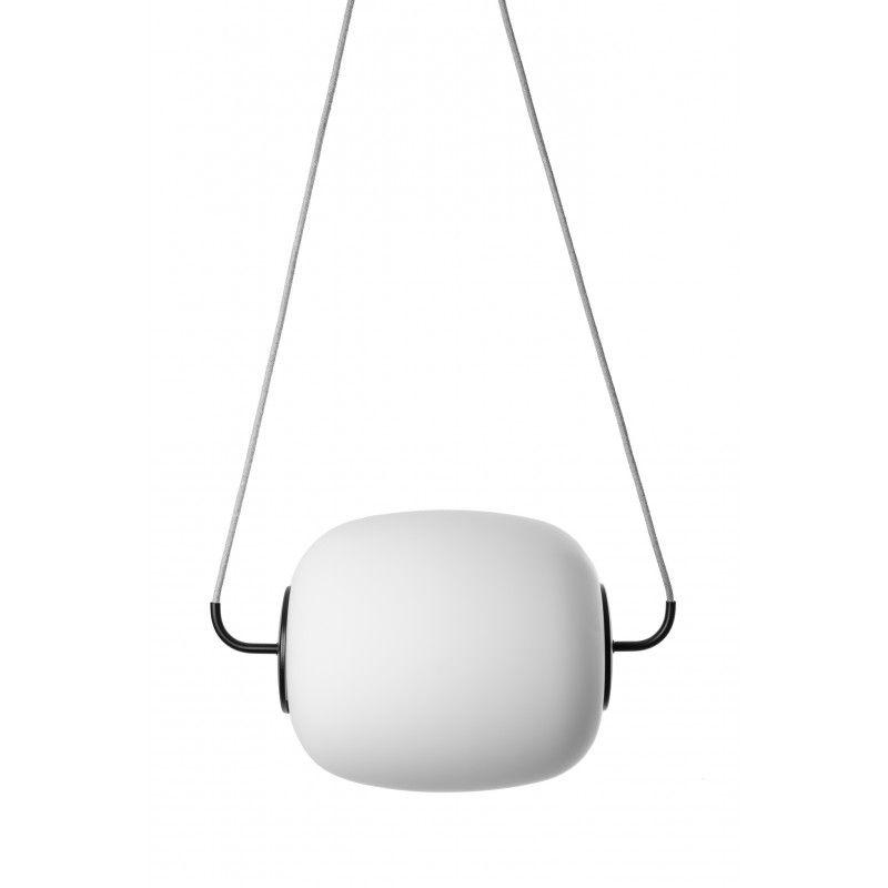 lampa wisząca biały klosz szary przewód