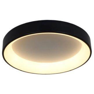 Nowoczesny plafon Georgia - LED, 3000K, czarny