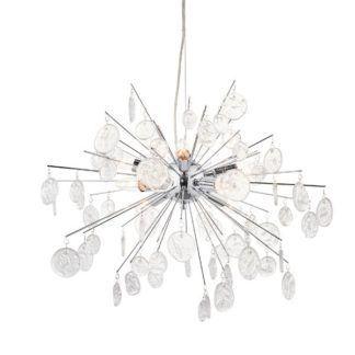 Oryginalna lampa wisząca Calla - chrom, szkło