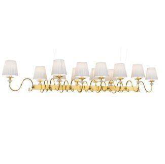 Klasyczna lampa wisząca Lilosa - podłużna, nad stół