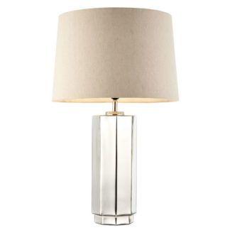 Lampa stołowa Lilah - szklana, klasyczny abażur