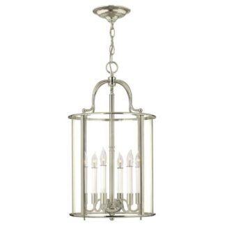 Duża lampa wisząca Gentry - srebrna