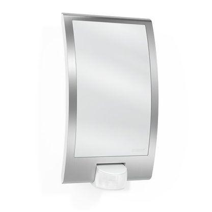 srebrny kinkiet z czujnikiem