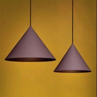 Lampa wisząca Konko Light - stożek, bakłażanowa