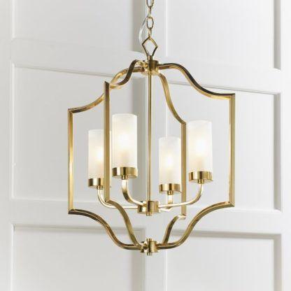 świecznikowa lampa wisząca złota