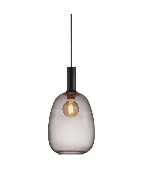 szklana szara lampa alton do lazienki