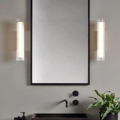szklane kinkiety łazienkowe do lustra