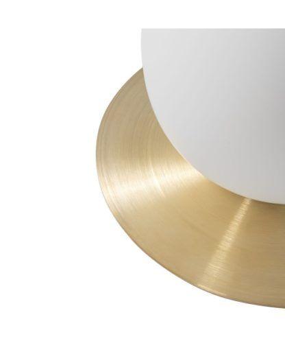 złota lampa stołowa dysk