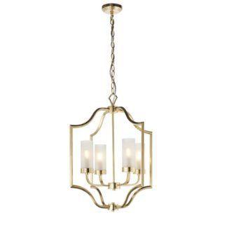 Elegancka lampa wisząca Edrea - złota