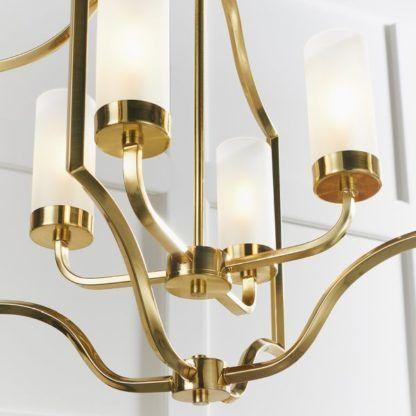 złota lampa wisząca w stylu new york