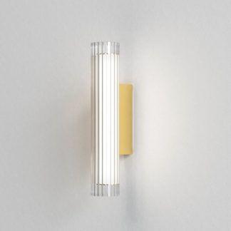 Szklany kinkiet io 420 - złota podstawa, IP44