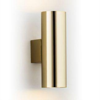 Złoty kinkiet Mitos - tuba, połysk