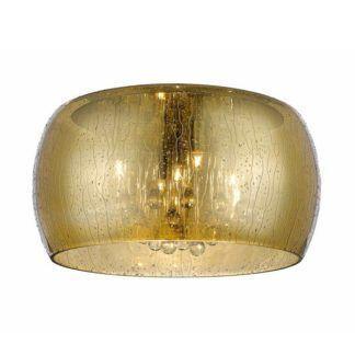 Złoty plafon Rain - efekt kropli na szkle