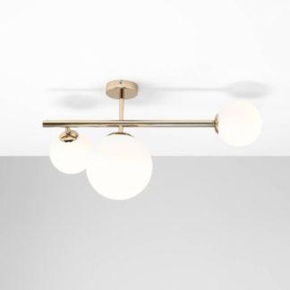 Złoty kinkiet/ lampa sufitowa Balia - szklane klosze