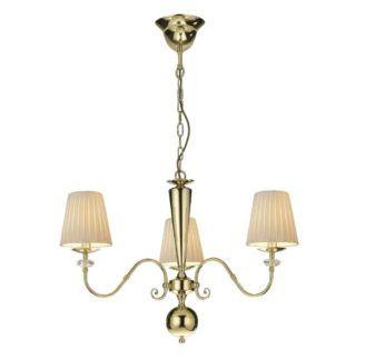 Złoty żyrandol Lilosa - klasyczny, 3-ramienny