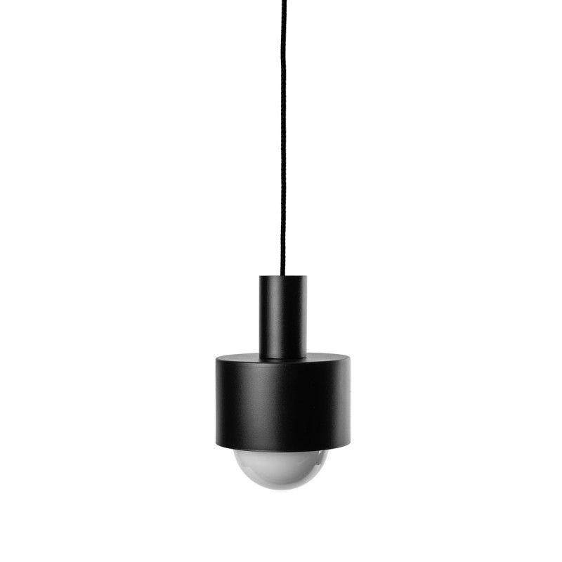 Czarna lampa wisząca Enkel - metalowy klosz