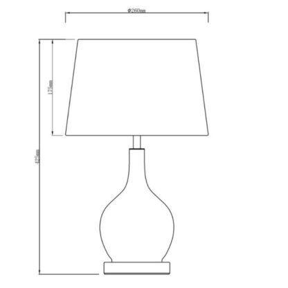 Lampa stołowa Swirl - szare szkło, jasny klosz